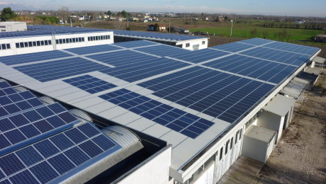 Photovoltaic system installed on company